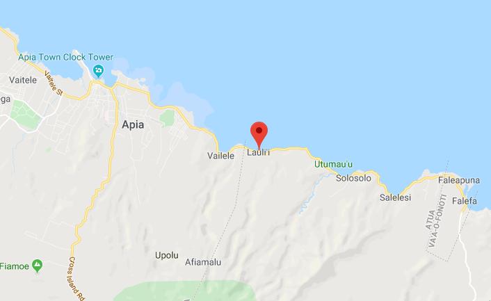 Lauli'i - a coastal village outside Apia on the island of Upolo.