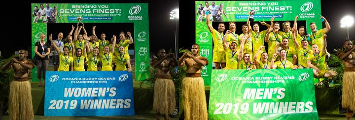 Australia also completed a clean sweep of the Oceania Sevens Championship titles.