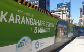 Auckland City rail link construction - Britomart to Karangahape Road, K road as seen on 5 November 2019