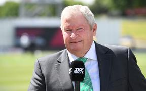 Cricket commentator and former New Zealand wicket-keeper Ian Smith.