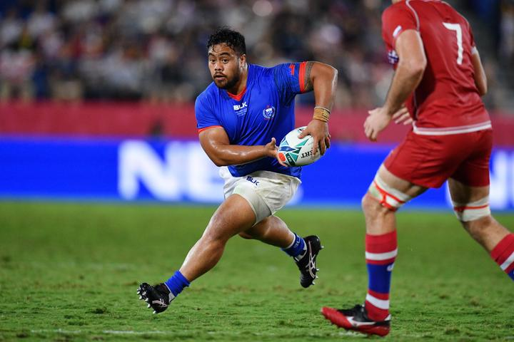 Manu Samoa hooker Ray Niuia featured in all four pool matches during the 2019 Rugby World Cup.