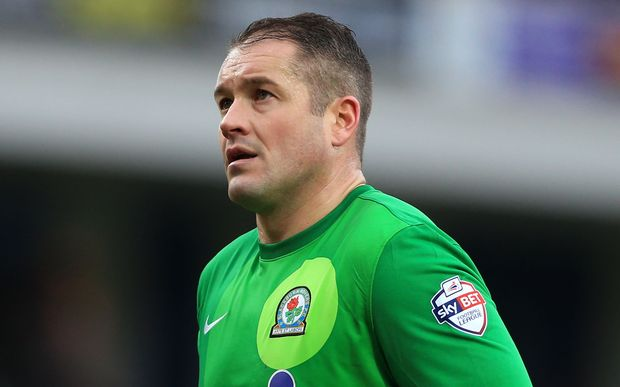 Blackburn goalkeeper Paul Robinson
