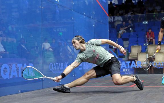 Kiwi squash pro Paul Coll
