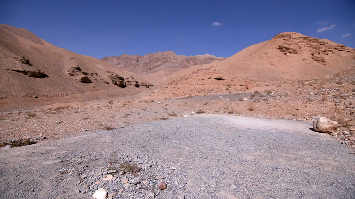 FORMER NZDF FIRING RANGE, BAMYAN — A wide view of the range from the concrete slab at the start of the range.