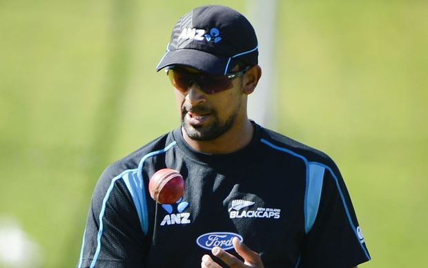 Ish Sodhi during practice at the Basin Reserve, February 2014.