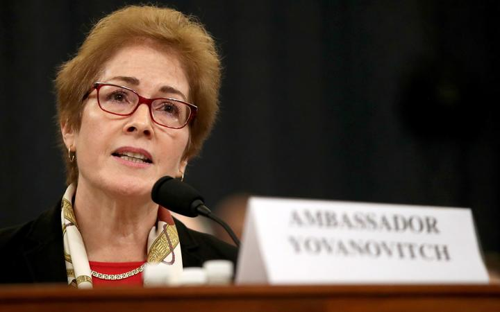 WASHINGTON, DC - NOVEMBER 15: Former U.S. Ambassador to Ukraine Marie Yovanovitch testifies before the House Intelligence Committee in the Longworth House Office Building on Capitol Hill November 15, 2019 in Washington, DC.