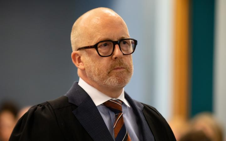 Ron Mansfield, lawyer for the man accused of murdering Grace Millane, opens the case for the defence at the High Court in Auckland, Tuesday 19 November 2019.