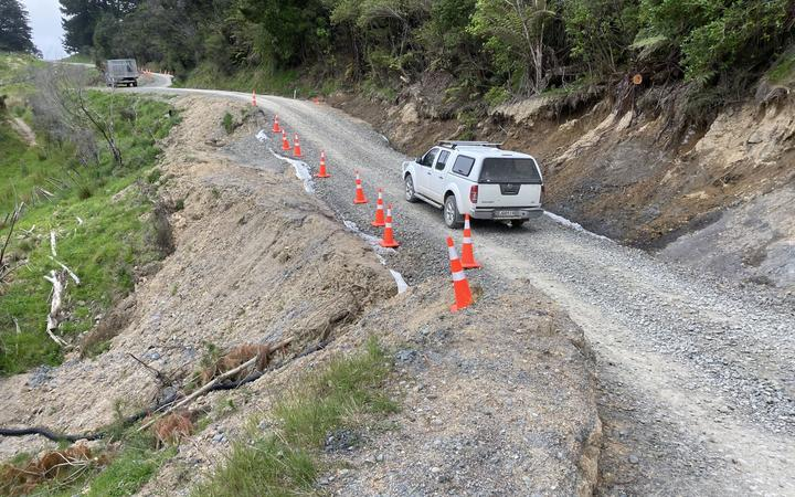 Access to Waikura Valley was severed for several days from August 22 when a slip came down on Waikura Road about 15km from the turnoff on State Highway 35.