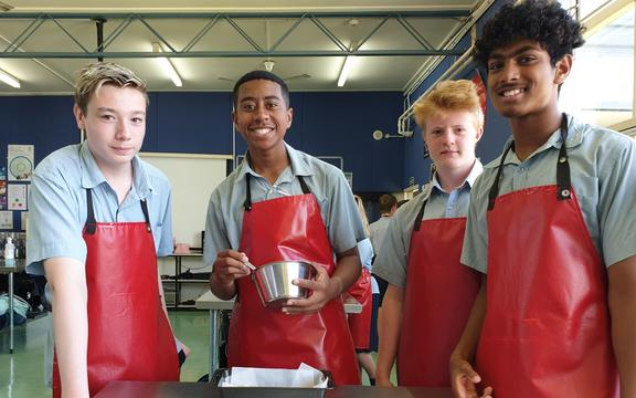 Pakuranga College food technology students