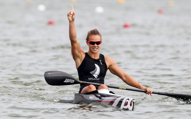 Lisa Carrington wins 2014 K1 200 world title.