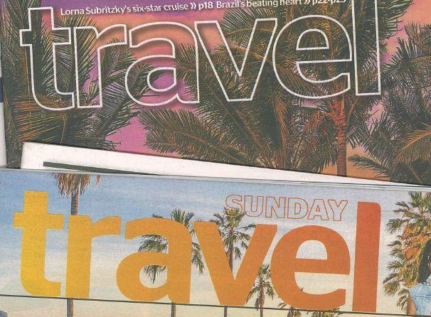The Herald's weekly travel supplements are getting bigger and bigger.