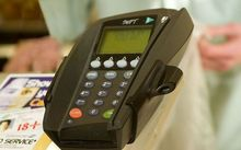 Eftpos machine.
