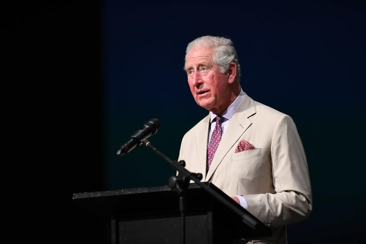 Prince Charles speaking to Cashmere High School students on 22 November 2019.