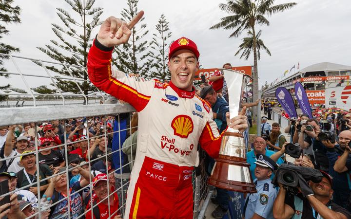 Scott McLaughlin wins the 2019 Australia Supercars Championship. The New Zealand driver hoisted the trophy following yesterday's final race of 2019 at Newcastle 500.
