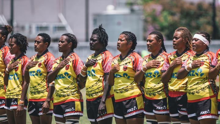 The PNG Palais during the Oceania Rugby Women's Championship.