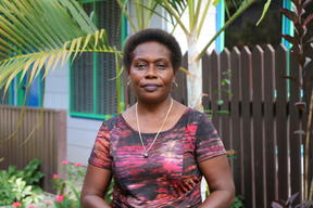 The deputy mayor of Arawa in Bougainville, Genevieve Korokoro.