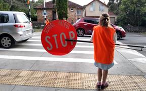 Owairaka District School road patrol - generic school speed limit, stop sign, traffic, crossing