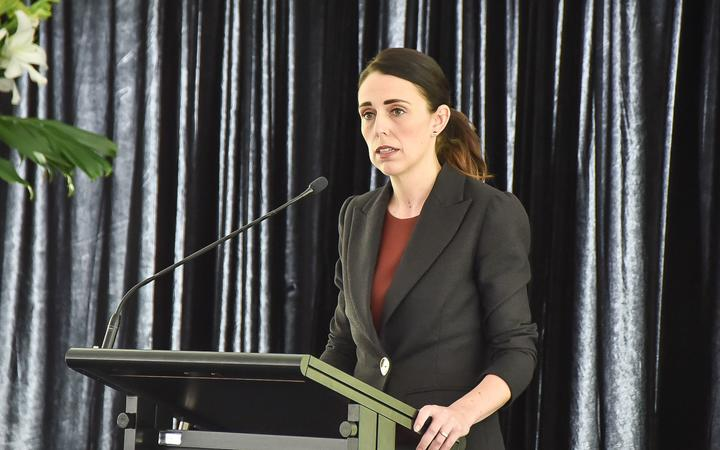 Prime Minister Jacinda Ardern at the ceremony marking the 40th anniversary of the Erebus disaster.