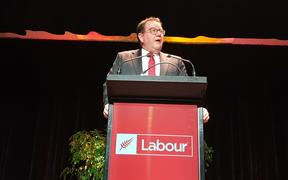 Grant Robertson at the Labour Party annual conference in Whanganui. (30/11/2019)