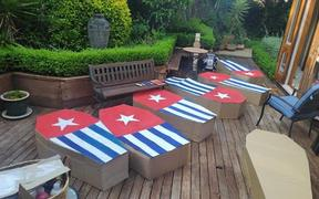 Coffin protest for West Papua at New Zealand Parliament