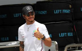 Formula One World Champion Lewis Hamilton.