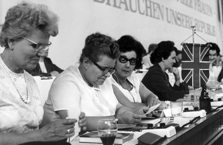 British women at the Women's Congress on 26 June 1964 in East Germany.