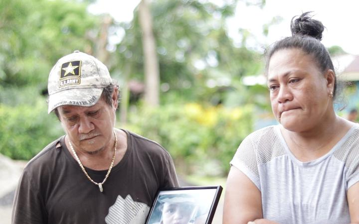 18-month-old child Sione's father and mother Lupino and Fala'i say the boy was very active with a healthy appetite
