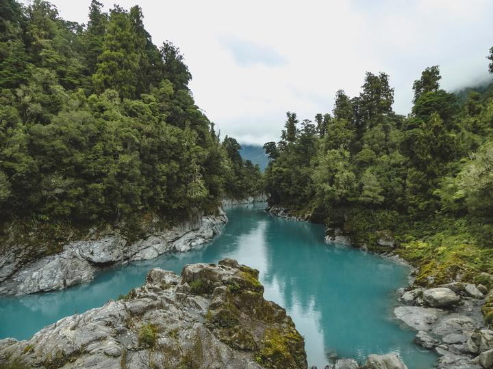 The Hokitika Gorge on the West Coast of the South Island