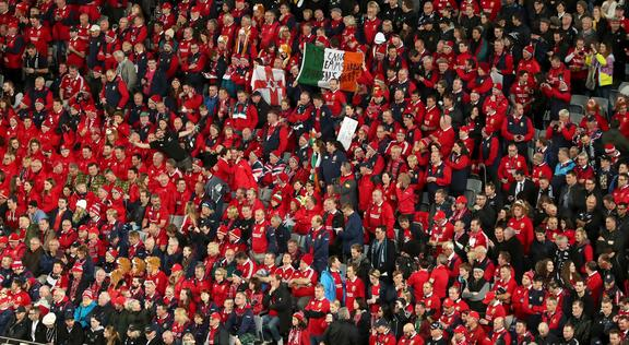 Lions supporters in New Zealand