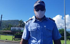A Samoa police officer pulled over RNZ journalist Alex Perrottet during the measles lockdown and gave him the 'all clear'.