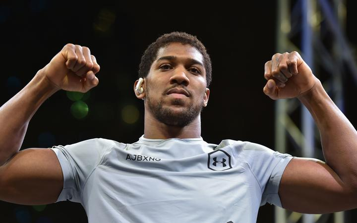 British heavyweight boxing challenger Anthony Joshua.