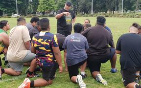 Former NFL star Jesse Sapolu held a clinic for New Zealand American football players in South Auckland on December 8, 2019.