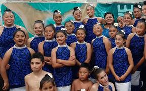Tautua Dance students in Porirua, taking part in Stand for Samoa concert.