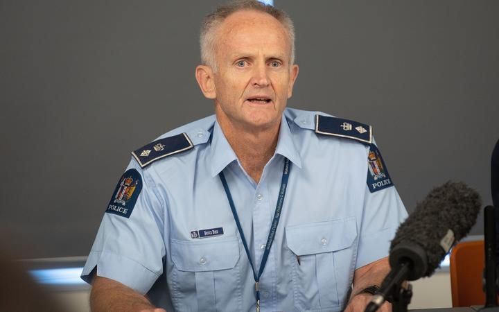 New Zealand Police Superintendent Bruce Bird speaks to the media about the eruption of Whakaari/White Island during a press conference in Whakatane on December 10, 2019.