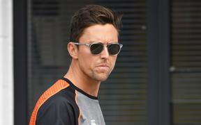 New Zealand's injured fast bowler Trent Boult.