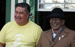 Tamati Kruger, left, and Tame Iti.