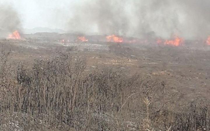 A scrub fire on Karikari peninsula in Northland is burning out of control.
