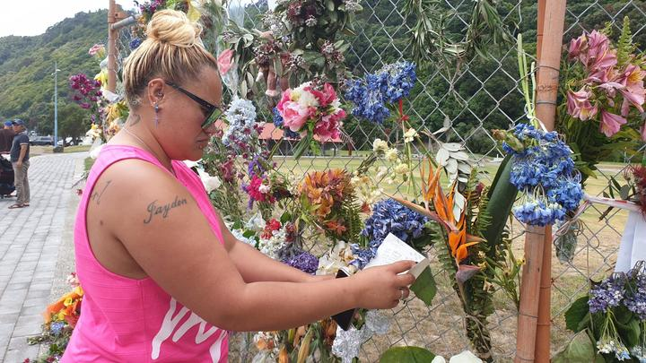 Allanah Marks drove down from Auckland to leave a tribute to Tipene.