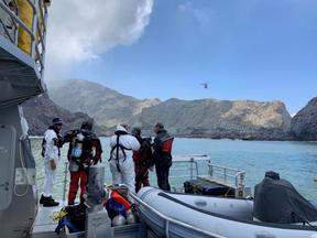 Divers have been facing challenging conditions around Whakaari / White Island.