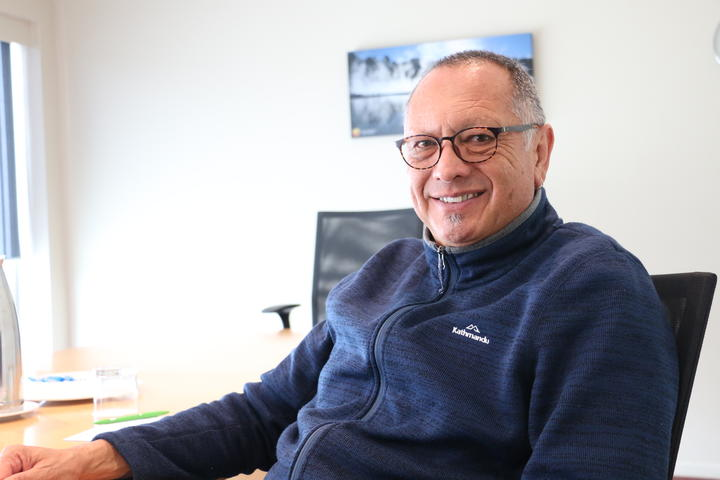 Derek Lardelli, award winner at the 2019 Te Waka Toi awards for his service and leadership in te reo Māori.