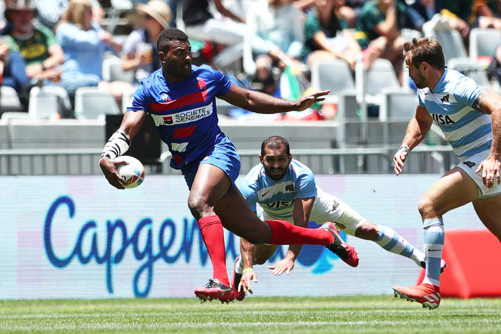 Fiji-born Tavite Veredamu scored the winning try in the bronze playoff.