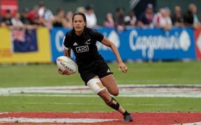 Tyla Nathan-Wong of Black Ferns Sevens.