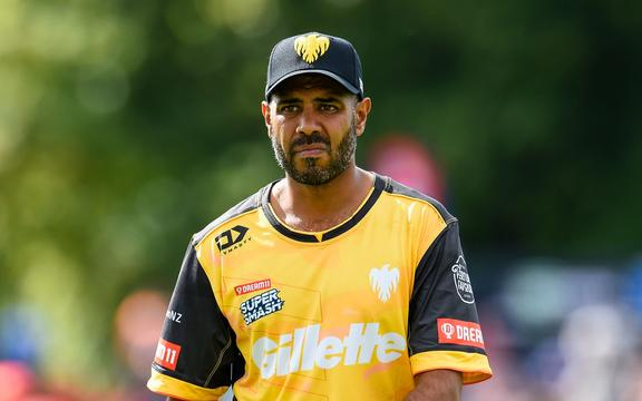 Jeetan Patel of the Wellington Firebirds