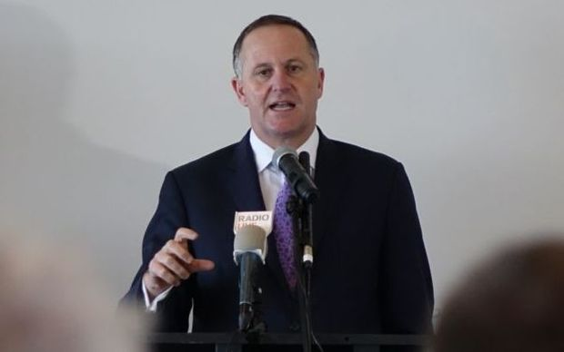 John Key talking to the Otago Chamber of Commerce at Forsyth Barr stadium in Dunedin.
