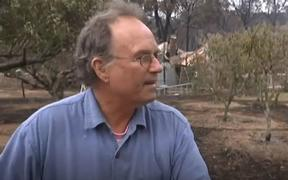 Steve Harrison sheltered in a kiln he had built in his backyard the day before a firestorm swept across his property.