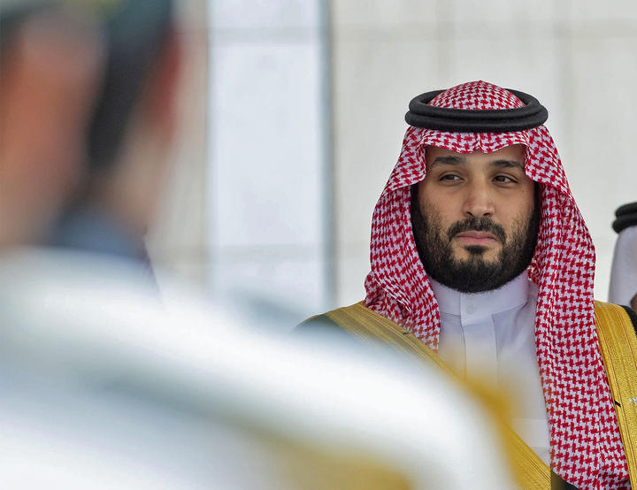 Crown Prince Mohammed bin Salman arrives to attend the annual speech of the Saudi King at the shura council, a top advisory body, in the capital Riyadh, 20 November 2019