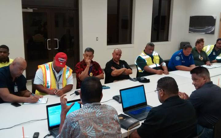 American Samoa officials hold an emergency meeting