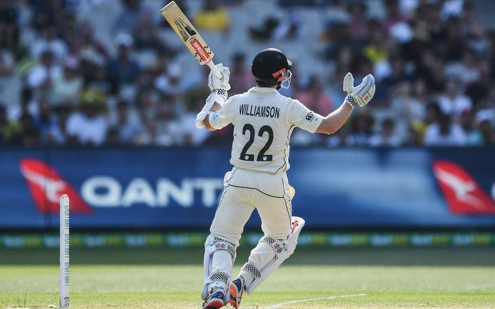 Kane Williamson gets a top edge and is out during the Boxing Day Test.