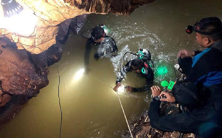 Thai Navy SEALs during the cave rescue operation in 2018.