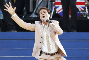 Cliff Richard performs during the Diamond Jubilee concert at Buckingham Palace in 2012.